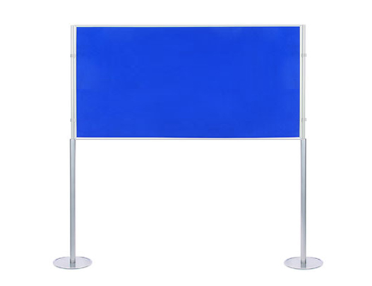 Jumbo elevated 1800 x 900mm display board, double sided. 1900mm high.
