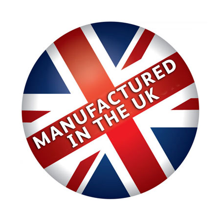 Proudly manufacturered in the UK.