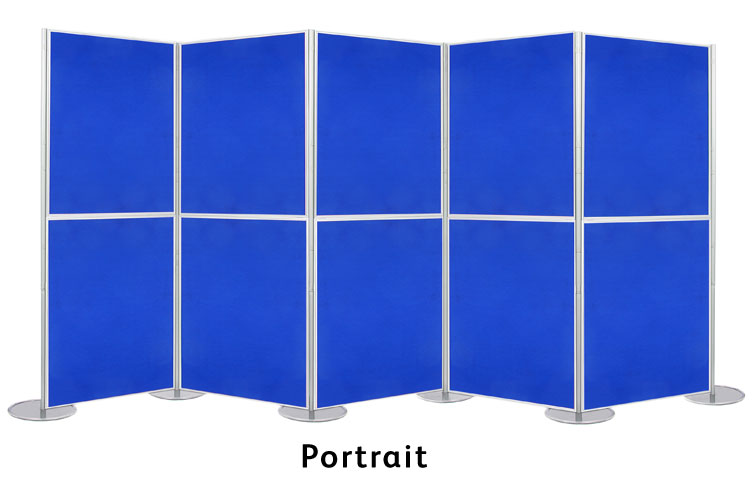 Portrait display boards 900 x 600mm.