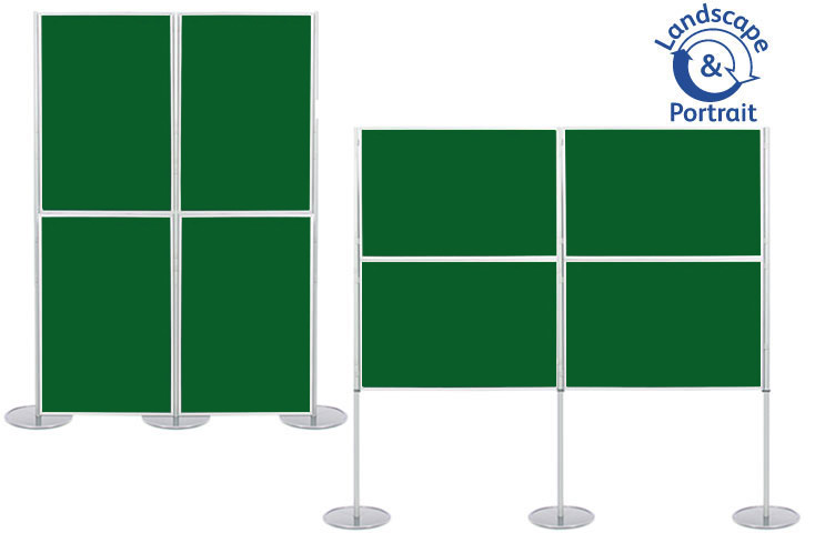 Panel & pole display boards with 4 display boards 900 x 600mm size.