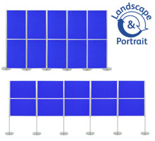 Pro-Link Panel & Pole Kit with 10x 900 x 600mm Display Boards