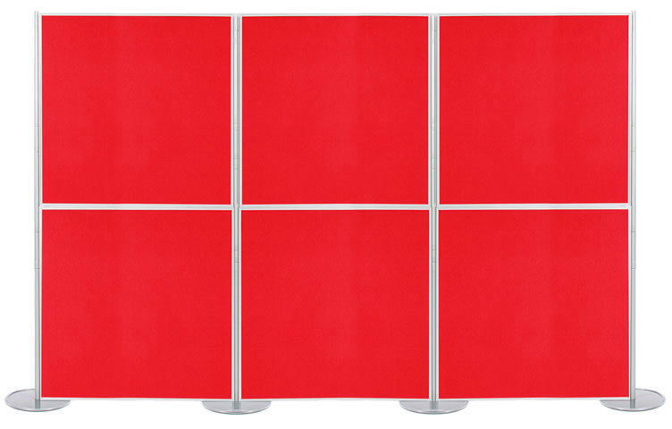 6 Display boards 1m x 1m (1000 x 1000mm) - Panel and Pole