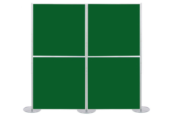 4 display boards 1 metre square: modular panel & pole display stands.