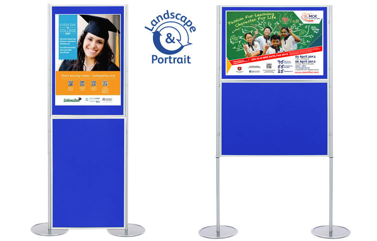 Attach posters to the display boards using Velcro or pins.