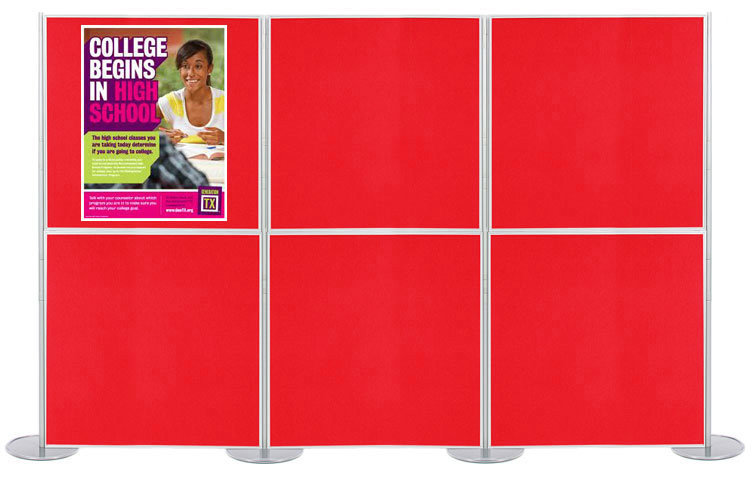 Display boards 1 x 1m with posters