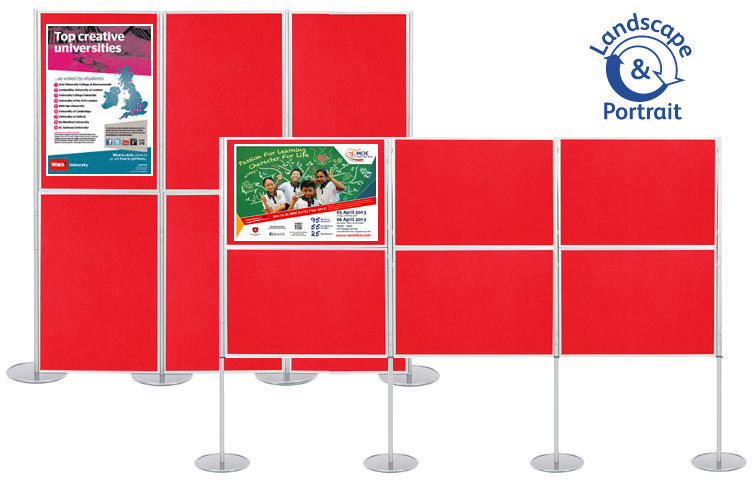 6 display boards 900 x 600mm panel and pole linking system