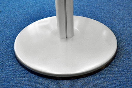 Display stands with large 450mm diameter heavy steel base for added stability