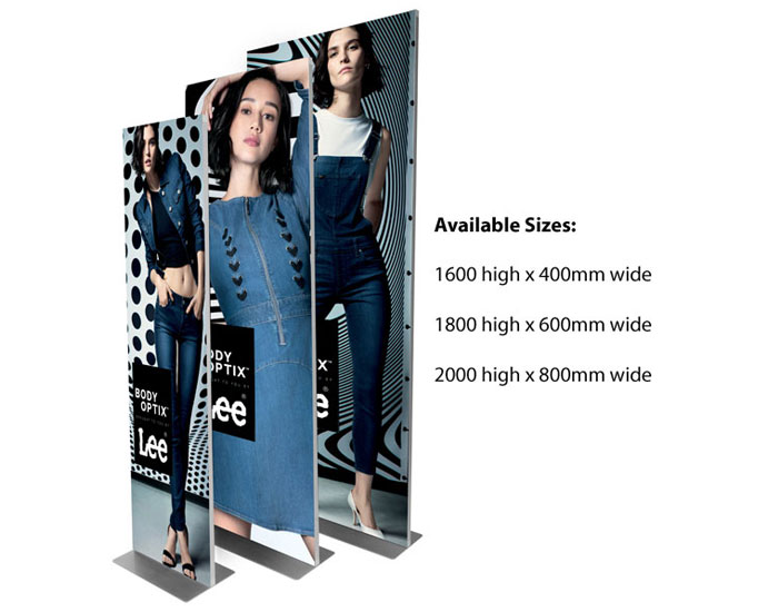 Magnetic aluminium frame available in 3 sizes