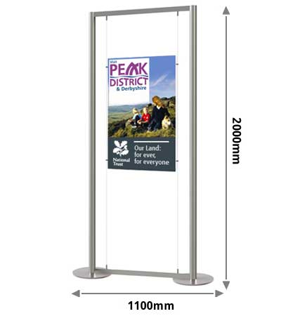 1 x A1 portrait display stand measurments