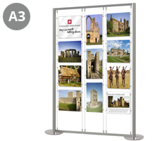 8 x A3 Landscape & 3 x A3 Portrait Display Stand