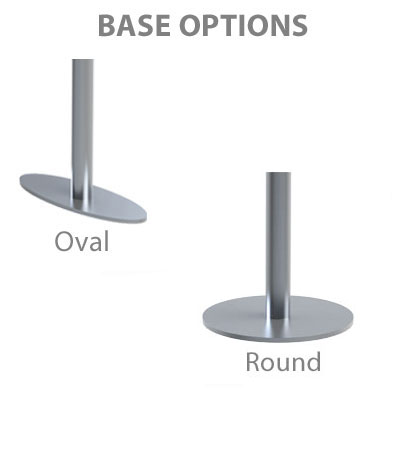 Choice of oval or round bases