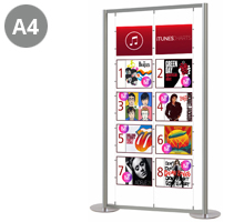 10 x A4 Landscape Free Standing Display Stand