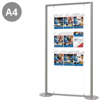 4 x Triple A4 Portrait Cable Display Stand