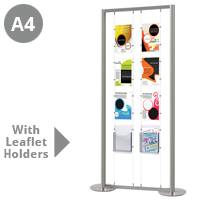 6 x A4 Portrait Pockets & 2 x A4 Leaflet Holders