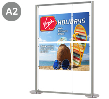 6 x A2 Portrait Free Standing Cable Display Stand