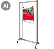Mobile Display Stand with 1 x A1 Portrait Pocket