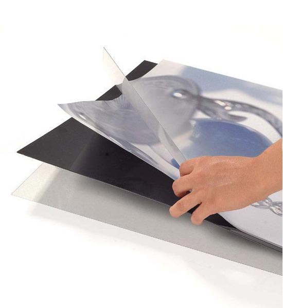 Supplied with clear acetate poster cover sheets and middle black-out sheet