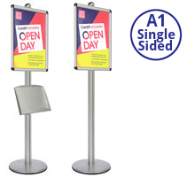 AXIS A1 Heavy Duty  Poster Stands Single Sided