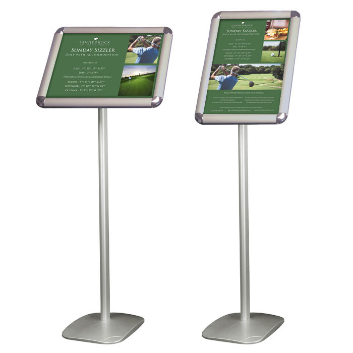 Sign holders with A3 poster frame   RAL Display