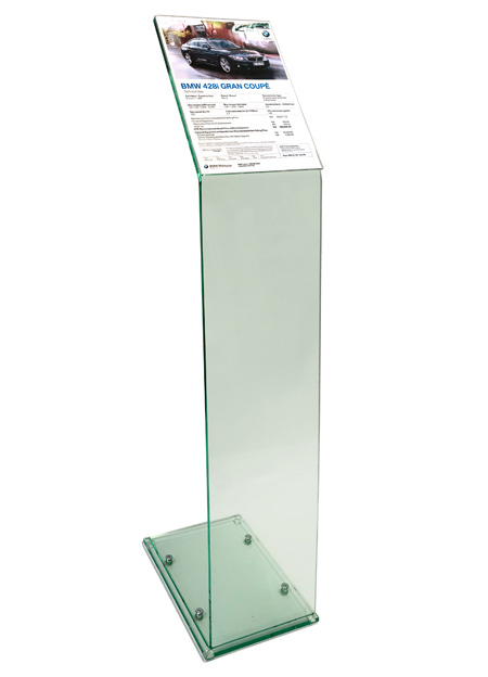Use to display menus and specification sheets