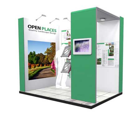2.5m Trade Show Stand Example