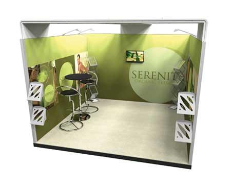 3m U-shaped Exhibition Stand Design