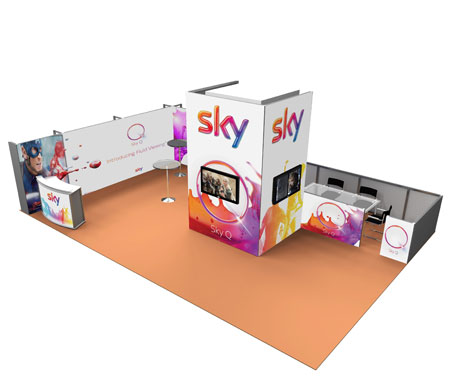 Custom exhibition stand for Sky