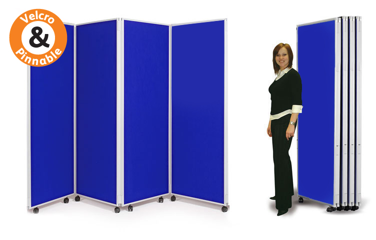 Mobile display boards: 4 x panels 1800mm high