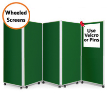 Mobile 5 Panel Folding Display Boards 1500mm High