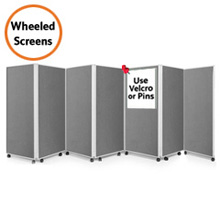 Mobile 7 Panel Folding Display Boards 1500mm High