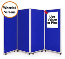 4 Panel Office Partition Screens 1500mm (h)