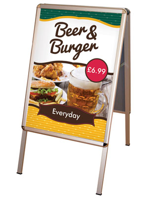 Brand your pavement sign with a set of full colour posters.