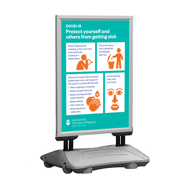 SNAP PRO heavy duty A1 and A0 pavement signs