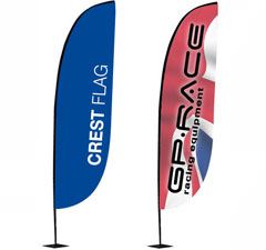 Crest Promotional Flags