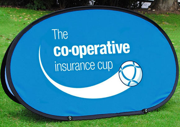 Golf banners are perfect for advertising event sponsors