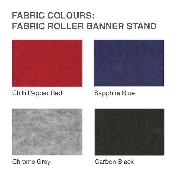 Fabric colour options include blue, red, black and grey.