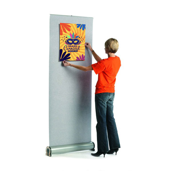 Easily attached posters using hook Velcro.