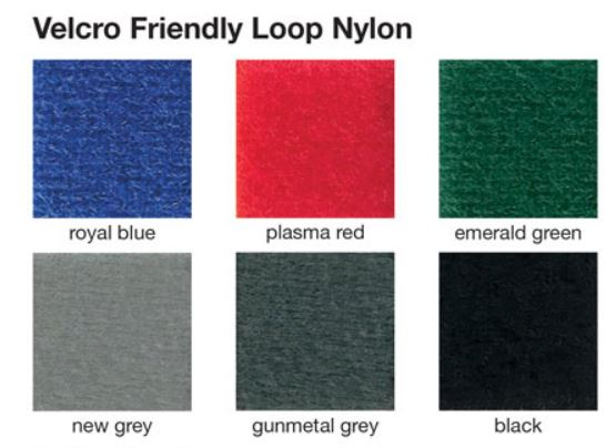 Choose from 6 luxury foam backed fabric colours