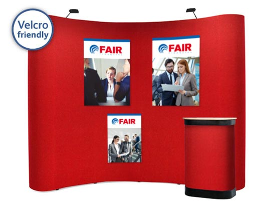 3x4 Velcro friendly popup stand