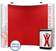 Velcro Friendly & Graphic Combination Popup Stands