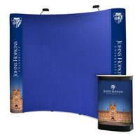 3x3 Fabric Covered Pop-up Stands with Graphic Ends