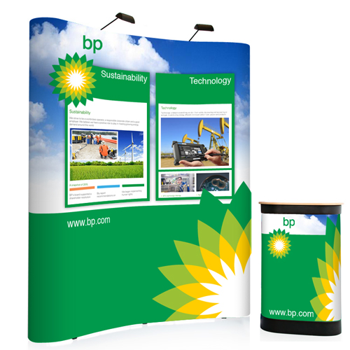 3x2 curved popup stand