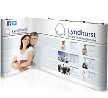 Kit 2 - L-Shaped Popup Stand - 2m x 3m Space