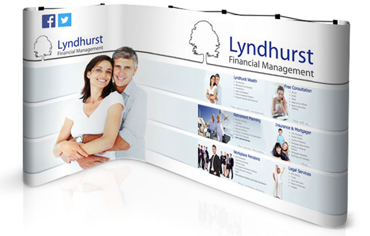 Popup stand L-shape for 2 x 3m exhibition booths