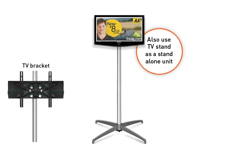 TV stand can also be used as a standalone unit