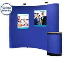 Velcro Friendly Fabric Pop-up Stands
