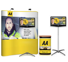 Pop-up Displays with TV Stand