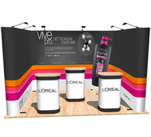 U-Shaped Pop Up Stands