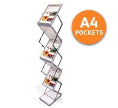 Z-Stand A4 Portable Brochure Holders