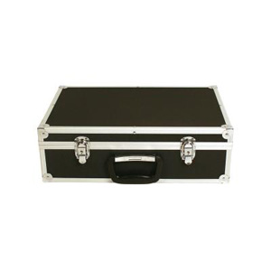 Hard carrying case included with A3 folding brochure stands.